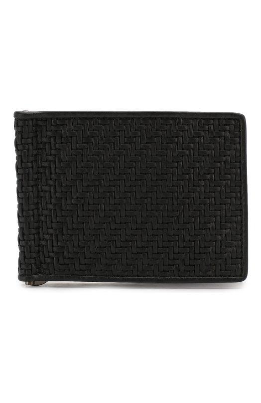 Кожаное портмоне с плетением Ermenegildo Zegna