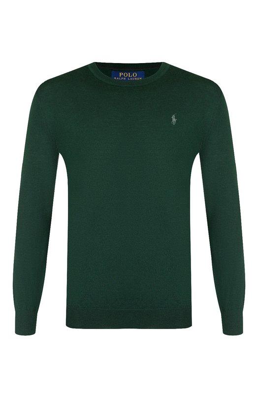 Купить Шерстяной джемпер с логотипом бренда Polo Ralph Lauren, 710714346, Китай, Зеленый, Шерсть: 100%;