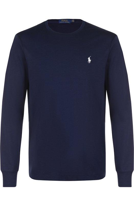Купить Хлопковый джемпер с логотипом бренда Polo Ralph Lauren, 710706113, Вьетнам, Темно-синий, Хлопок: 100%;
