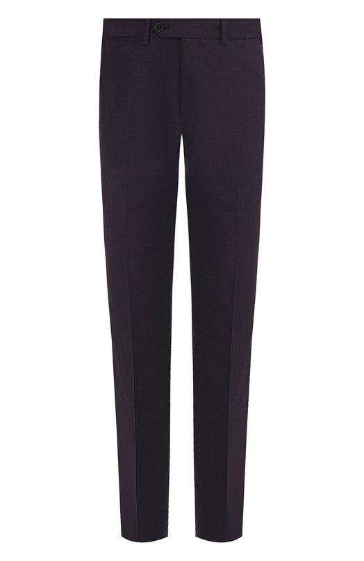 Купить Шерстяные брюки прямого кроя Emporio Armani, 11P0B0/11641, Болгария, Темно-синий, Шерсть: 60%; Полиэстер: 38%; Эластан: 2%;