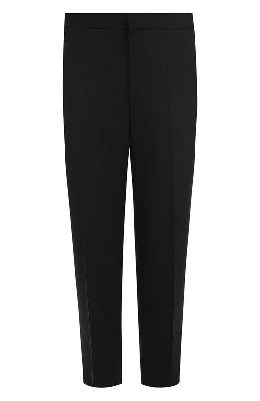 Купить Укороченные брюки с заниженной линией шага HUGO, 50387583, Турция, Черный, Шерсть: 100%;