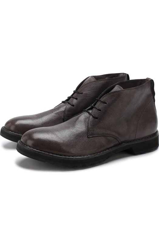 Купить Кожаные ботинки на шнуровке Moma, 58801-1D, Италия, Серый, Подошва-резина: 100%; Подкладка-кожа: 100%; Кожа: 100%;