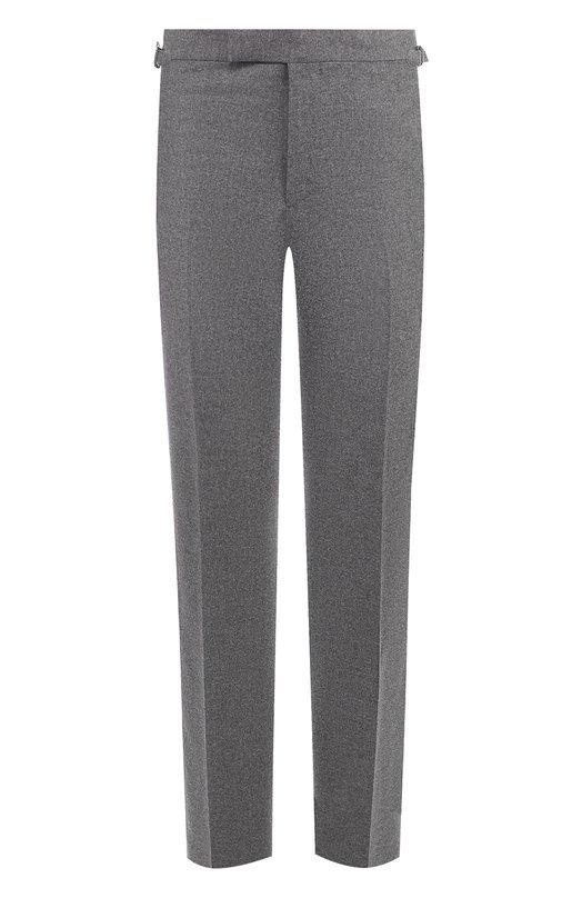 Купить Шерстяные брюки прямого кроя Tom Ford, 431R10/610043, Швейцария, Серый, Шерсть: 100%;