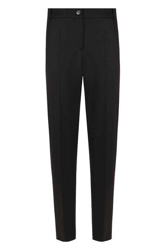 Купить Однотонные укороченные брюки со стрелками Emporio Armani, 6Z2P83/2N89Z, Болгария, Черный, Полиэстер: 54%; Шерсть: 43%; Эластан: 3%;