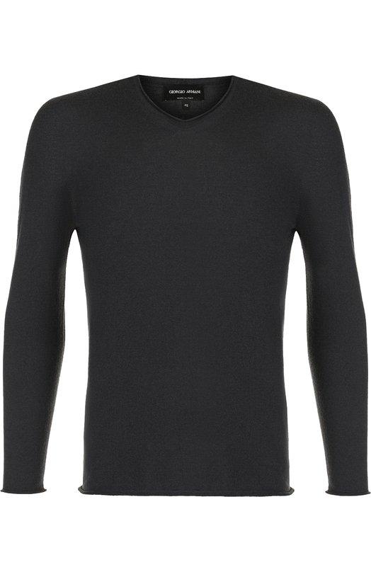 Купить Кашемировый пуловер тонкой вязки Giorgio Armani, 6ZSM10/SM06Z, Италия, Темно-серый, Кашемир: 93%; Полиэстер: 7%;