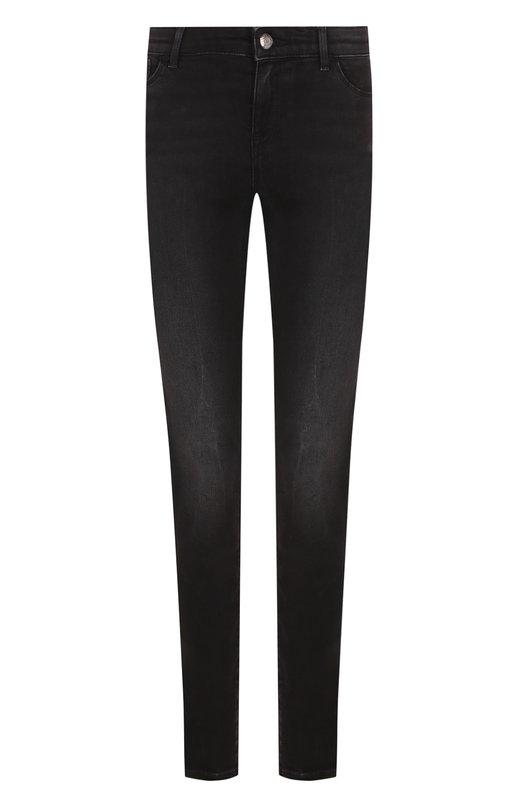 Укороченные джинсы с потертостями Emporio Armani, 6Z2J23/2D0TZ, Маврикий, Черный, Хлопок: 90%; Полиэстер: 48%; Эластан: 2%;  - купить