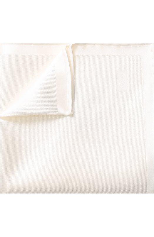 Купить Однотонный шелковый платок Brioni, 071000/0743L, Италия, Белый, Шелк: 100%;