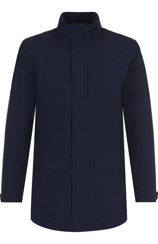 Купить Куртка прямого кроя с воротником-стойкой Z Zegna, VR015/ZZ135, Китай, Синий, Полиэстер: 100%;