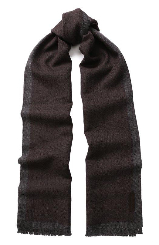 Шерстяной шарф с бахромой Ermenegildo Zegna