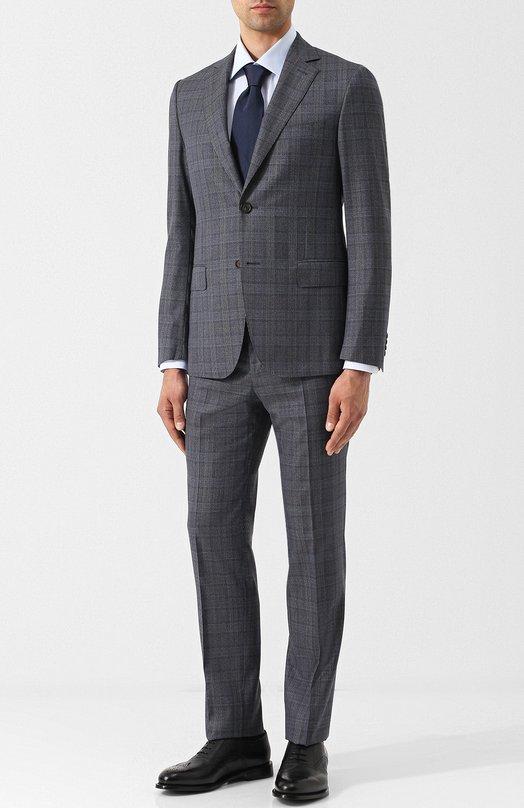 Купить Шерстяной костюм с однобортным пиджаком в клетку Pal Zileri, N33X022K2--41533, Италия, Синий, Шерсть: 100%;