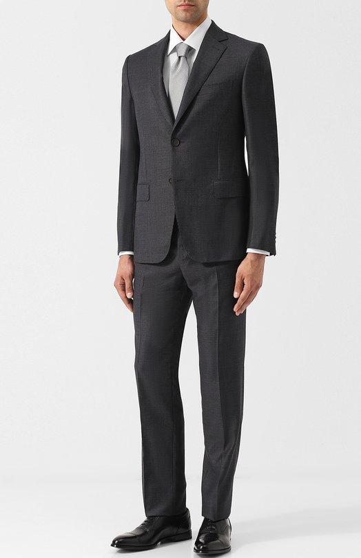 Купить Шерстяной костюм с однобортным пиджаком Pal Zileri, N33X022K2--41574, Италия, Темно-серый, Шерсть: 100%;