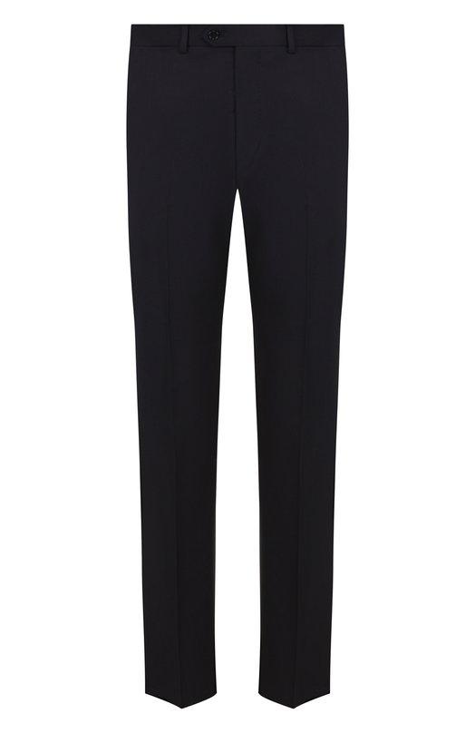 Купить Шерстяные брюки прямого кроя Emporio Armani, 01P0E0/0B026, Болгария, Темно-синий, Шерсть: 100%;