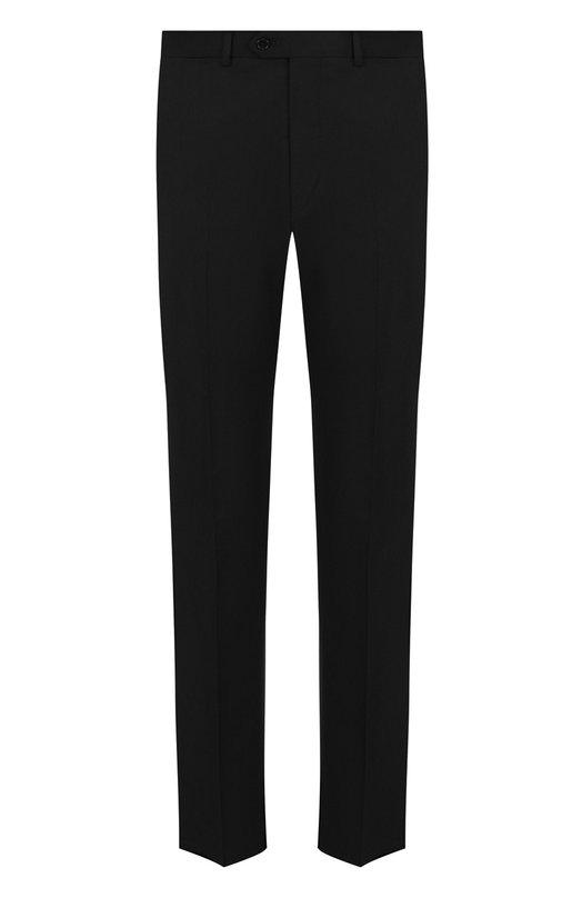 Купить Шерстяные брюки прямого кроя Emporio Armani, 01P0E0/0B026, Болгария, Черный, Шерсть: 100%;