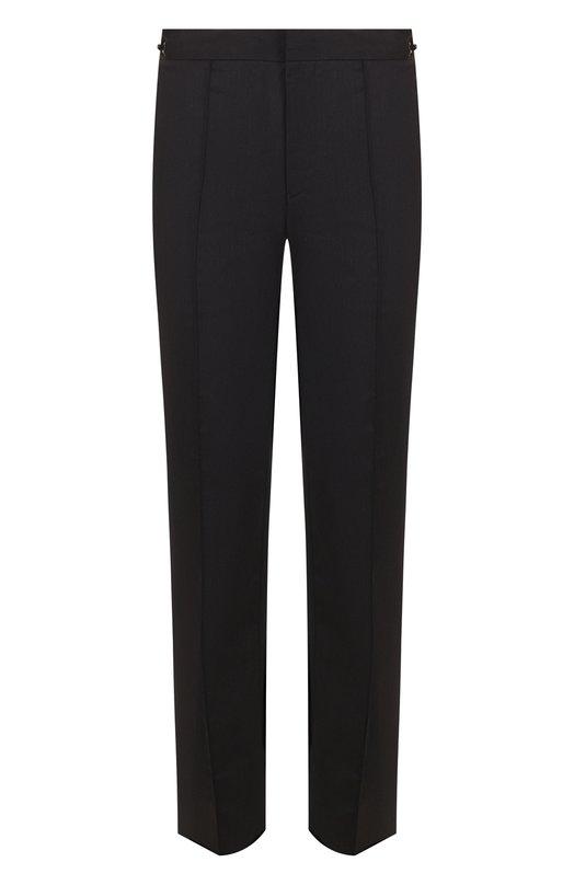 Купить Шерстяные брюки прямого кроя Emporio Armani, 11P370/11026, Китай, Темно-серый, Полиамид: 88%; Эластан: 12%;