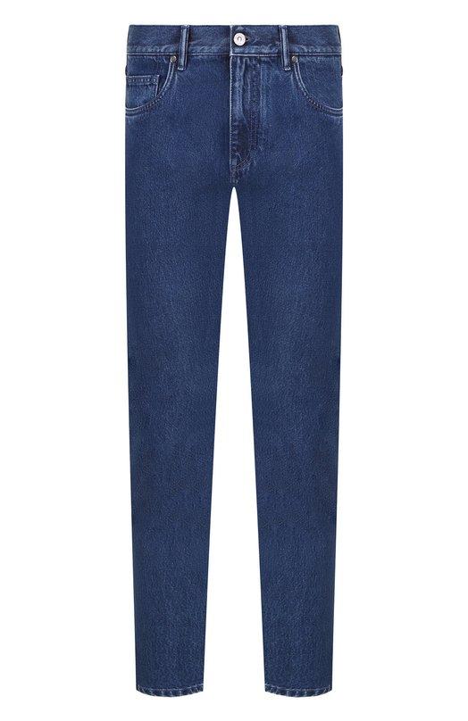 Купить Хлопковые джинсы прямого кроя Ermenegildo Zegna, URI81/JS02, Румыния, Синий, Хлопок: 100%;