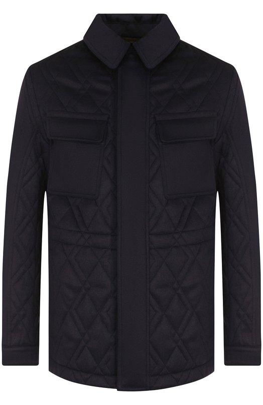 Купить Кашемировая куртка с отложным воротником Ermenegildo Zegna, URT41/R208P, Италия, Темно-синий, Кашемир: 100%; Подкладка-полиэстер: 100%;