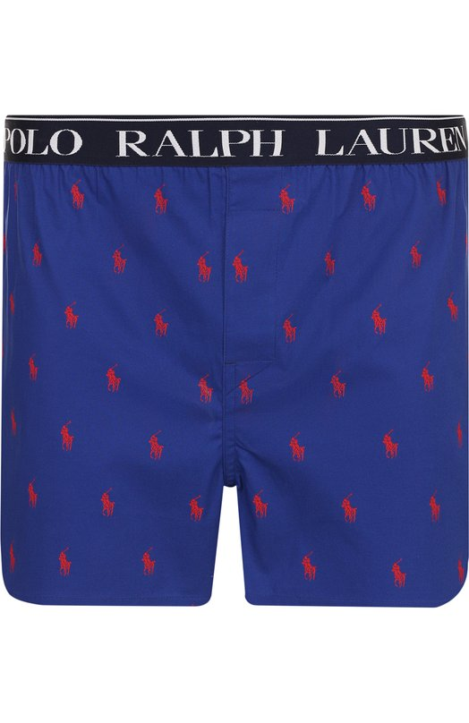 Купить Хлопковые боксеры свободного кроя Ralph Lauren, 714637442, Китай, Синий, Хлопок: 97%; Эластан: 3%;