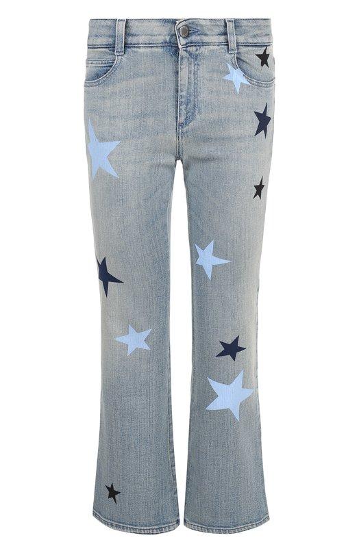 Купить Укороченные расклешенные джинсы с принтом в виде звезд Stella McCartney, 475508/SLH25, Италия, Синий, Хлопок: 98%; Эластан: 2%;