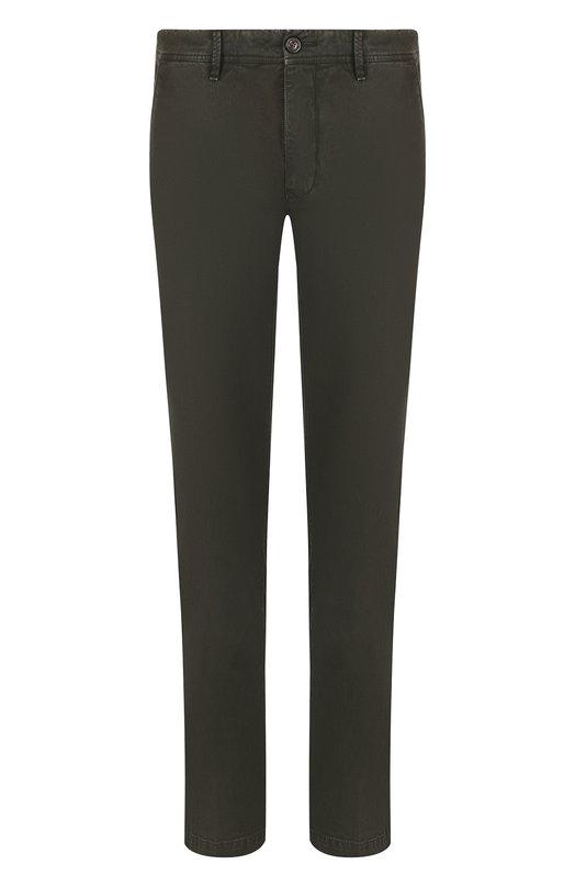 Купить Хлопковые брюки прямого кроя Moncler, D2-091-11006-40-54515, Румыния, Хаки, Хлопок: 97%; Эластан: 3%;