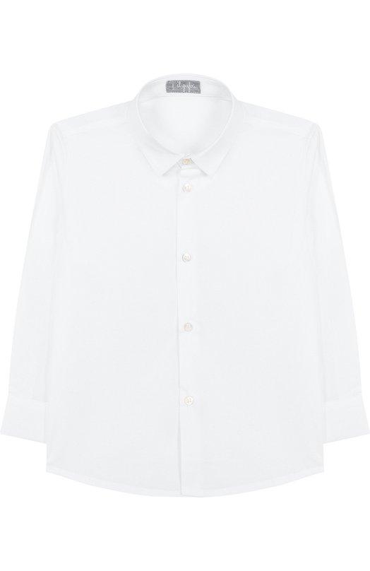 Купить Хлопковая рубашка с воротником кент Il Gufo, A18CL115C0031/10A-12A, Италия, Белый, Хлопок: 97%; Эластан: 3%;
