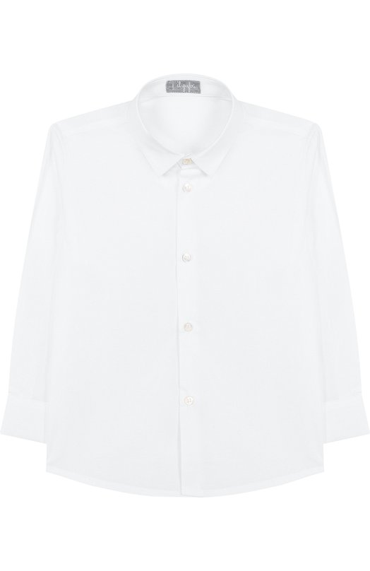 Купить Хлопковая рубашка с воротником кент Il Gufo, A18CL115C0031/5A-8A, Италия, Белый, Хлопок: 97%; Эластан: 3%;