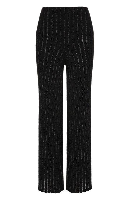 Купить Укороченные расклешенные брюки из шерсти Giorgio Armani, 6ZAP02/AM20Z, Италия, Черный, Шерсть: 74%; Вискоза: 6%; Люрекс: 2%; Полиамид: 18%;