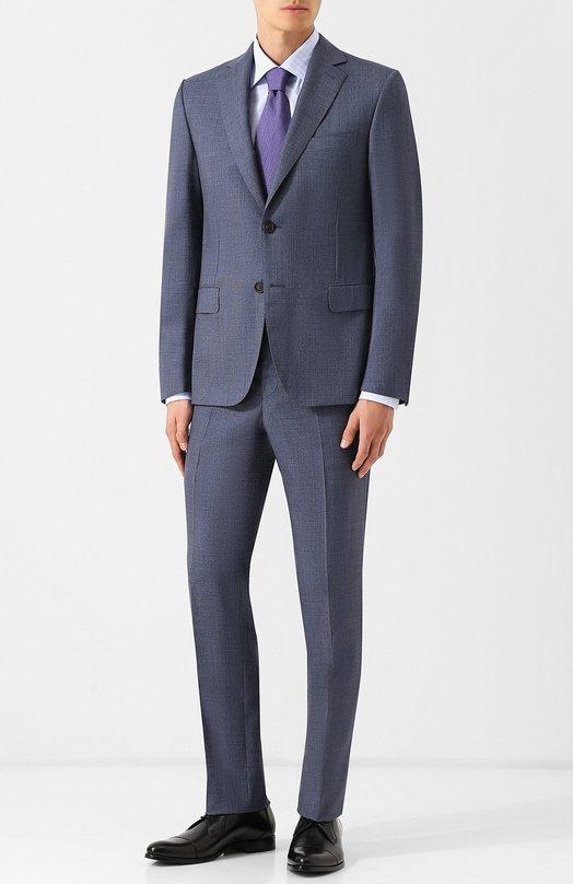 Купить Шерстяной костюм с однобортным пиджаком Pal Zileri, N33X022K2--41531, Италия, Синий, Шерсть: 100%;