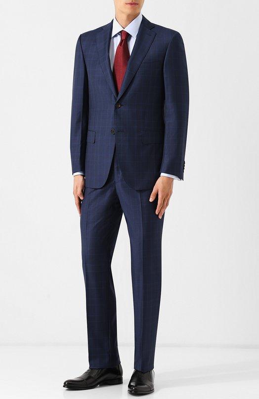 Купить Костюм из смеси шерсти и кашемира с однобортным пиджаком Pal Zileri, N33XV22L2--41575, Италия, Синий, Шерсть: 90%; Кашемир: 10%;