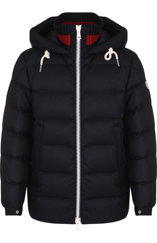 Купить Утепленная куртка Gartempe на молнии с капюшоном Moncler, D2-091-41880-05-54272, Румыния, Темно-синий, Подкладка-Полиамид: 100%; Шерсть: 100%;
