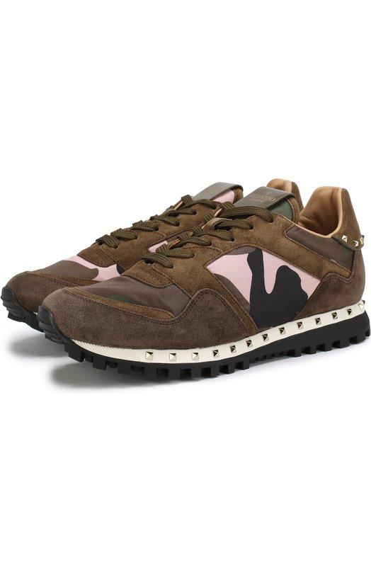 Комбинированные кроссовки Valentino Garavani Rockrunner Valentino Valentino