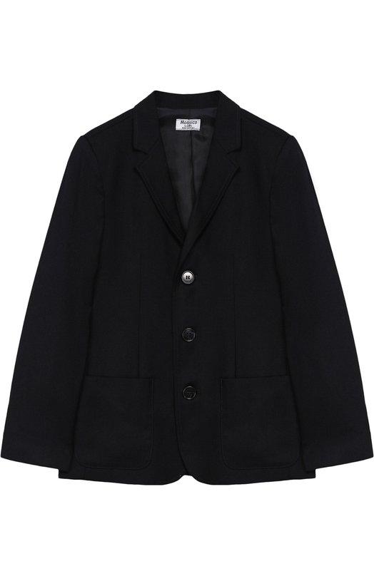 Купить Однобортный пиджак Aletta, AM888470N/4A-8A, Италия, Темно-синий, Полиэстер: 52%; Вискоза: 44%; Эластан: 4%;