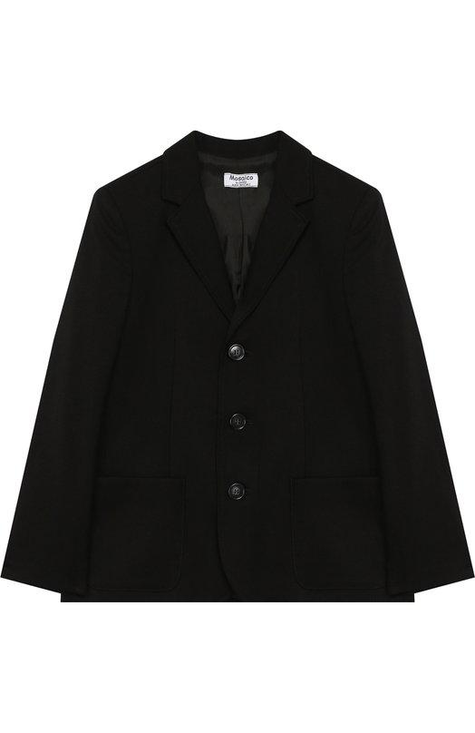 Купить Однобортный пиджак Aletta, AM888470N/9A-16A, Италия, Черный, Полиэстер: 52%; Вискоза: 44%; Эластан: 4%;