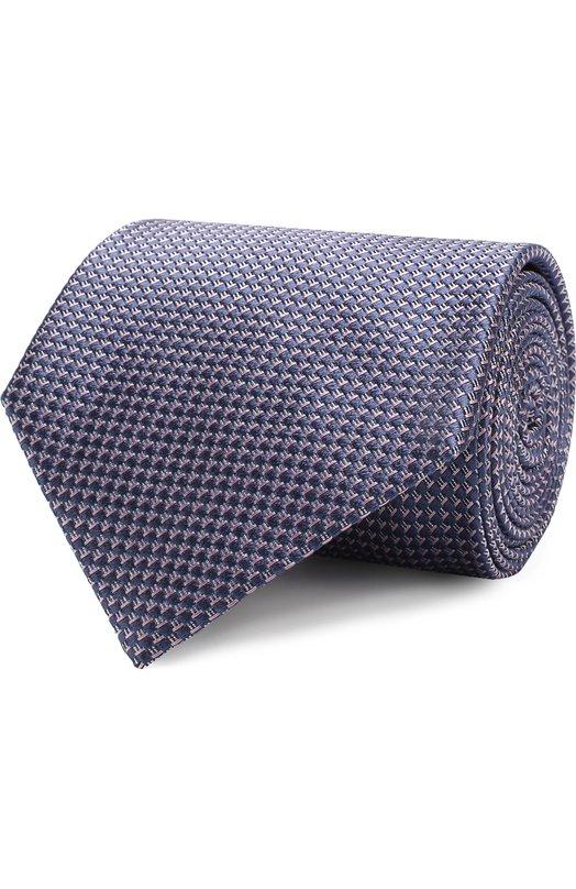 Купить Шелковый галстук с узором Brioni, 062I00/07450, Италия, Сиреневый, Шелк: 100%;