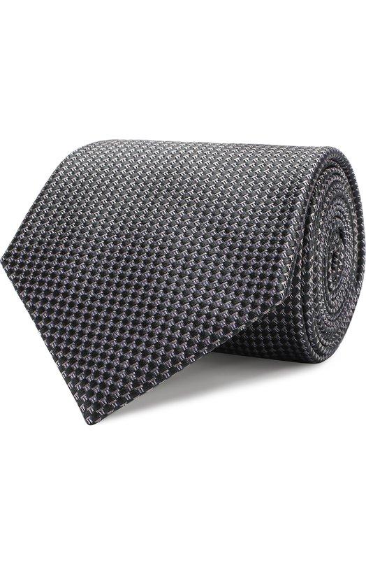 Купить Шелковый галстук с узором Brioni, 062I00/07450, Италия, Темно-зеленый, Шелк: 100%;