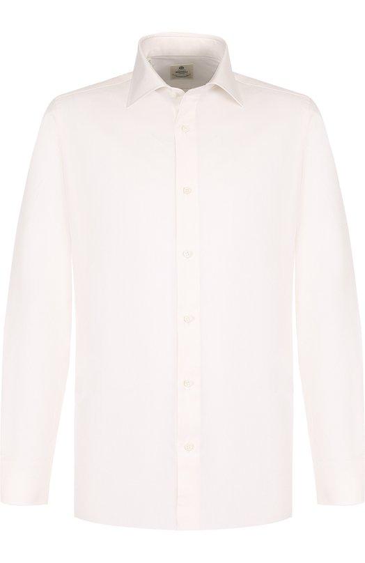 Купить Хлопковая сорочка с воротником кент Luigi Borrelli, EV08/TS6850/PT1, Италия, Кремовый, Хлопок: 100%;