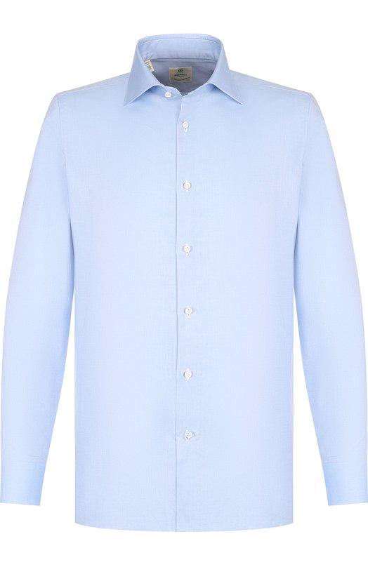 Купить Хлопковая сорочка с воротником кент Luigi Borrelli, EV08/TS6852/PT1, Италия, Голубой, Хлопок: 100%;