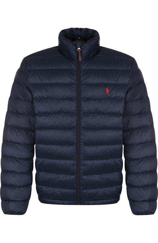 Купить Утепленная куртка на молнии с воротником-стойкой Polo Ralph Lauren, 710716331, Китай, Темно-синий, Полиамид: 100%; Подкладка-Текстиль: 100%; Набивка-Полиэстер: 100%;