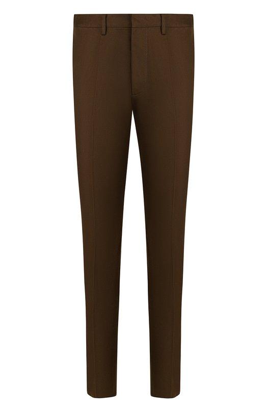 Купить Хлопковые брюки прямого кроя Dsquared2, S74KB0191/S41794, Румыния, Хаки, Хлопок: 100%;