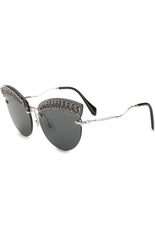 Купить Солнцезащитные очки Miu Miu, 58TS-MPG5S0, Италия, Черный