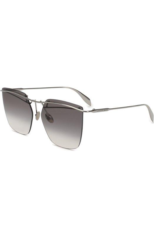 Купить Солнцезащитные очки Alexander McQueen, AM0144 003, Италия, Серый
