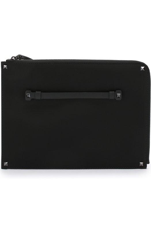 Купить Текстильная папка для документов Valentino Garavani на молнии с принтом Valentino, QY2P0635/N0V, Италия, Черный, Текстиль: 100%;