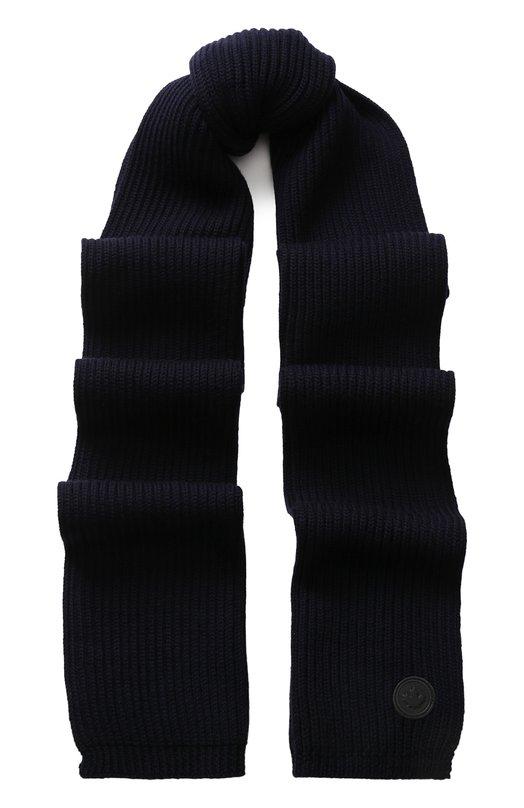 Шерстяной шарф фактурной вязки Dsquared2