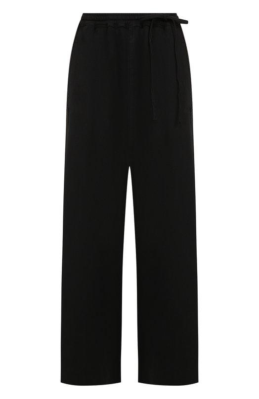 Купить Однотонные укороченные брюки из хлопка Roque, RIPY861/1, Италия, Черный, Хлопок: 100%;