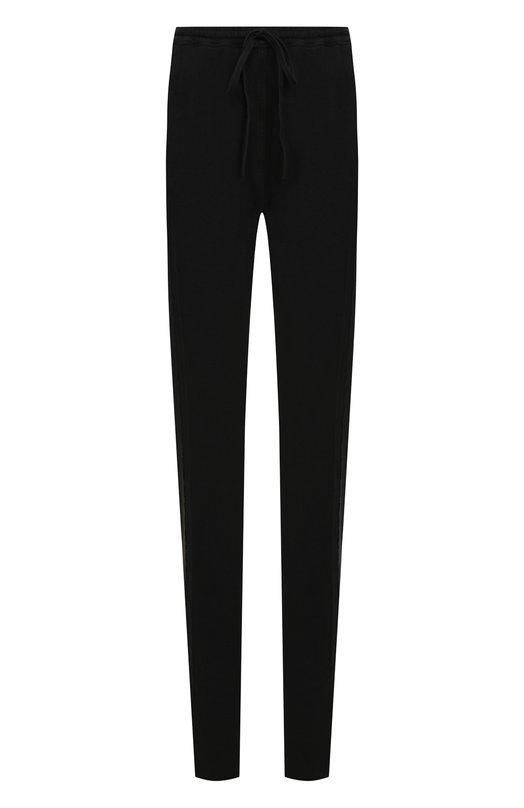 Купить Однотонные хлопковые брюки с эластичным поясом Roque, RIPY874/1, Италия, Черный, Хлопок: 100%;