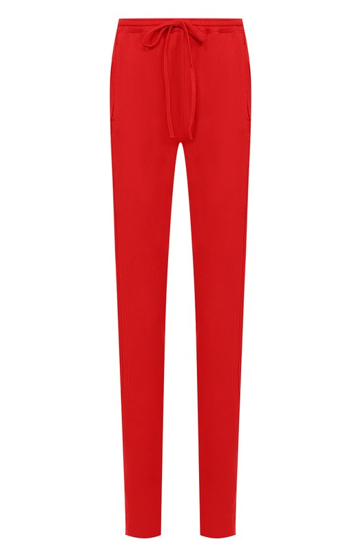 Купить Однотонные хлопковые брюки с эластичным поясом Roque, RIPY874/1, Италия, Красный, Хлопок: 100%;