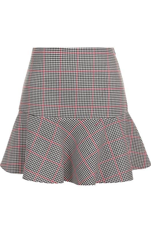 Купить Мини-юбка из смеси хлопка и шерсти REDVALENTINO, QR3RA2Y5/3SF, Венгрия, Разноцветный, Хлопок: 54%; Полиэстер: 27%; Шерсть: 19%;