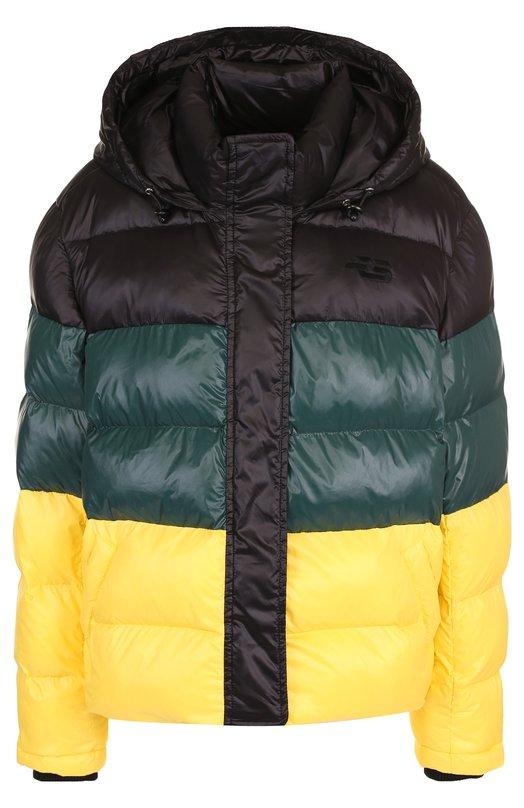 Купить Стеганая куртка с капюшоном и воротником-стойкой Proenza Schouler, WL1831093-BY102, Китай, Разноцветный, Полиамид: 100%;