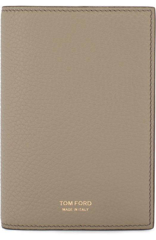 Купить Кожаная обложка для паспорта Tom Ford, Y0252T-C95, Италия, Бежевый, Кожа натуральная: 100%;