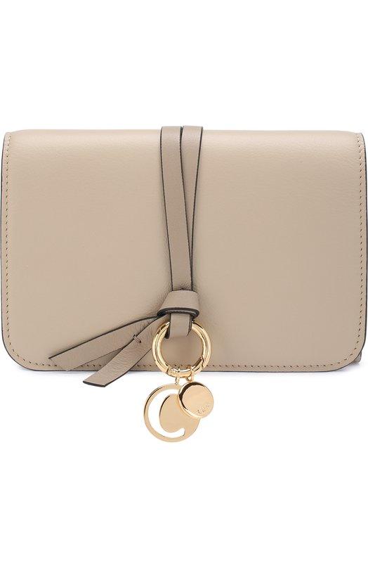 Купить Кожаный кошелек Alphabet Chloé, CHC17AP943H1Z, Испания, Серый, Кожа натуральная: 100%;