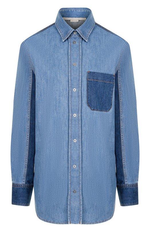 Купить Джинсовая блуза с накладным карманом Stella McCartney, 512795/SLH57, Италия, Голубой, Хлопок: 98%; Эластан: 2%;